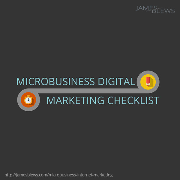 Microbusiness internet marketing checklist [INFOGRAPHIC]